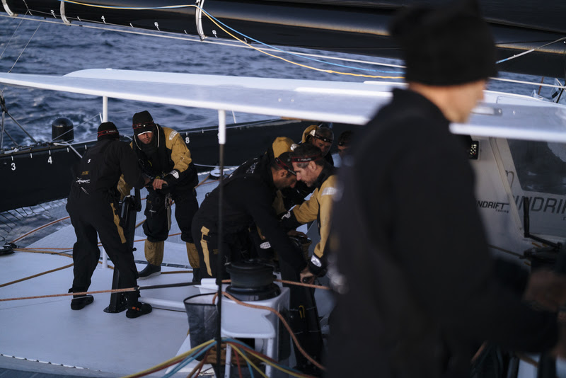 Spindrift racing complete a Transatlantic passage to bring Spindrift 2 back home to La Trinité sur Mer.